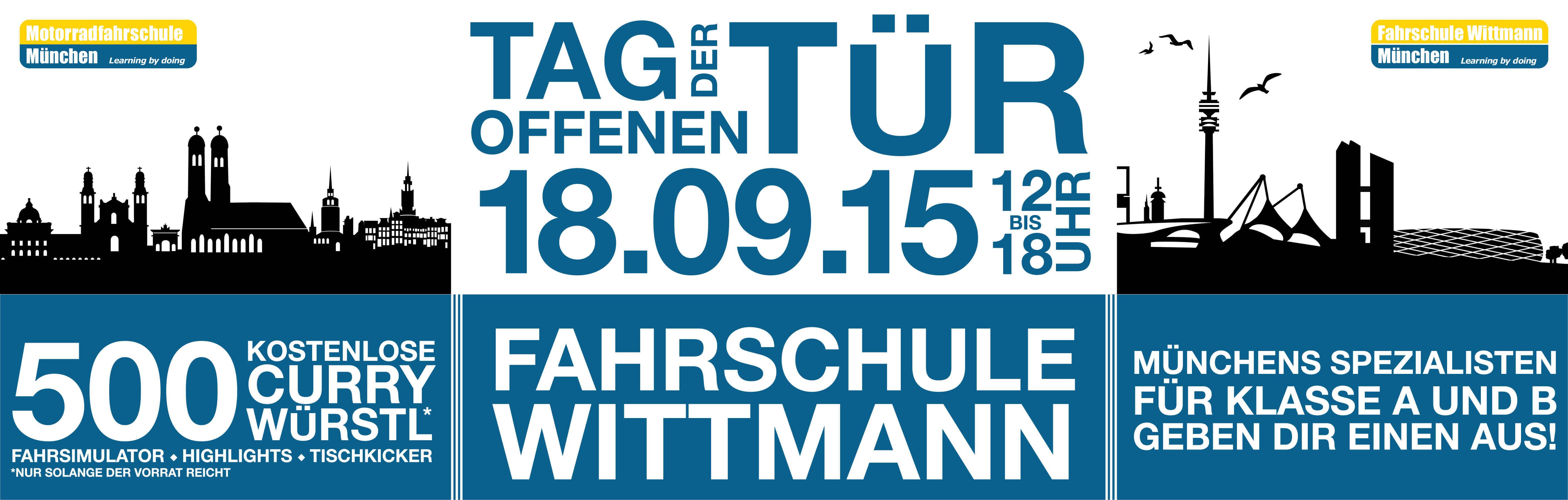 Wann ist tag der offenen tür  Tag der offenen Tür - Fahrschule Wittmann - Fahrschule Wittmann ...